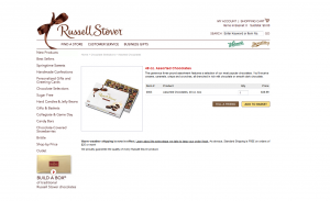 Russell Stover Website Screenshot